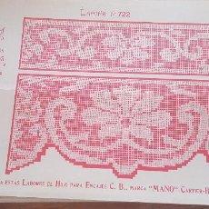 Antiguidades: EL CONSULTOR DE LOS BORDADOS-LAMINA Nº722. Lote 215641082