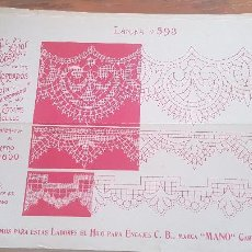 Antiguidades: EL CONSULTOR DE LOS BORDADOS-LAMINA Nº593. Lote 215641301