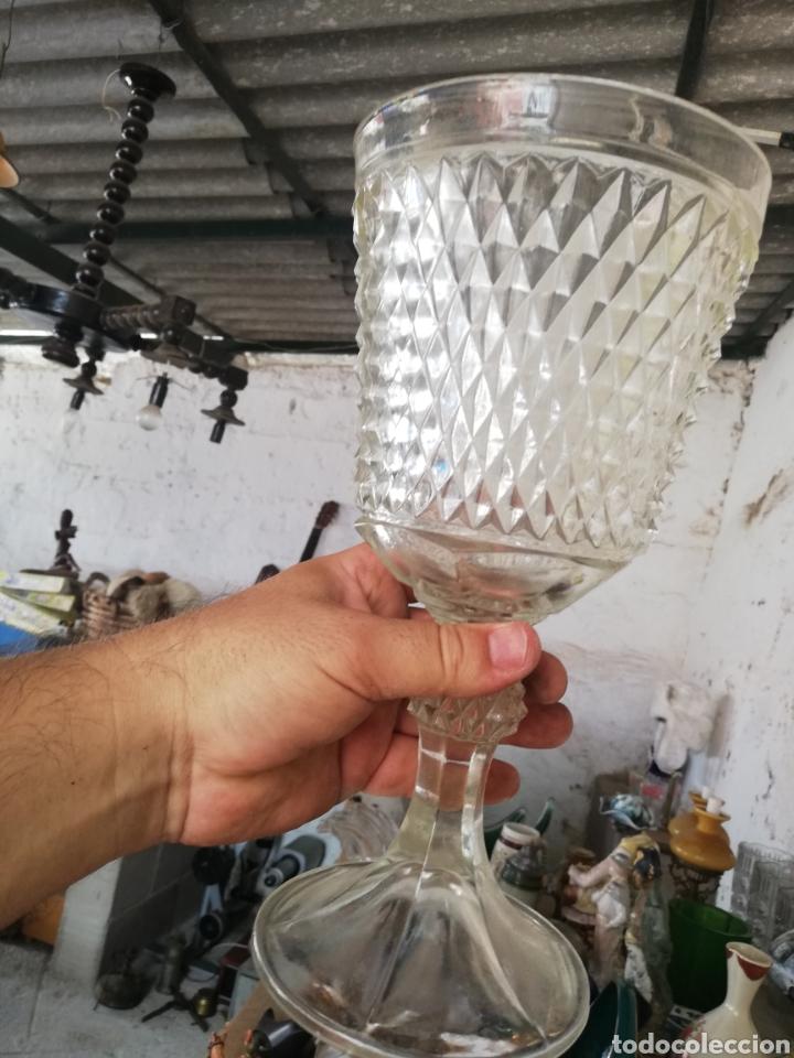 Antigüedades: Copa.. Copón de cristal italiano.. Gran tamaño.. Sin roturas.. Años 50 - Foto 2 - 215660512