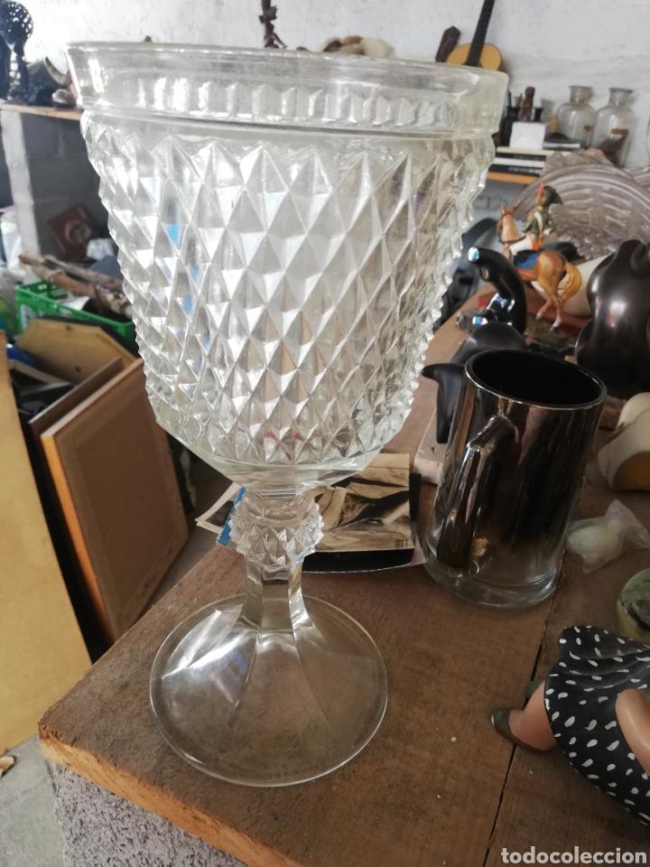 COPA.. COPÓN DE CRISTAL ITALIANO.. GRAN TAMAÑO.. SIN ROTURAS.. AÑOS 50 (Antigüedades - Cristal y Vidrio - Italiano)