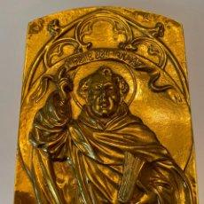 Antigüedades: IMAGEN EN BRONCE DE SAN VICENTE FERRER - METAL - VALENCIA 13 X 19 CM. Lote 215683571