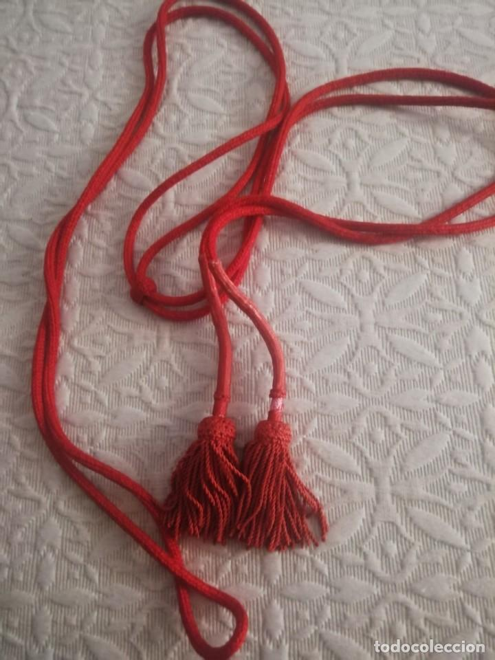 CÍNGULO ROJO (Antigüedades - Religiosas - Ornamentos Antiguos)
