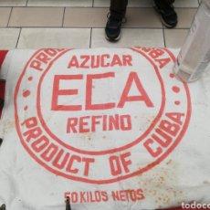 Antigüedades: ANTIGUO SACO DE AZÚCAR DE 50 KILOS DE CUBA.. PRINCIPIO AÑOS DE30. Lote 215741647