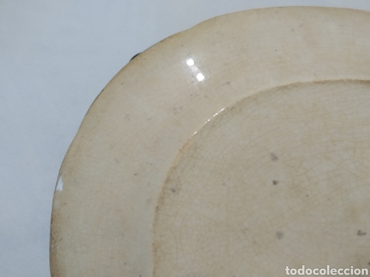 Antigüedades: Preciosa fuente PICKMAN, Cartuja de Sevilla, de 35 centímetros, vista en tinta negra, sello de 1841. - Foto 18 - 215748997