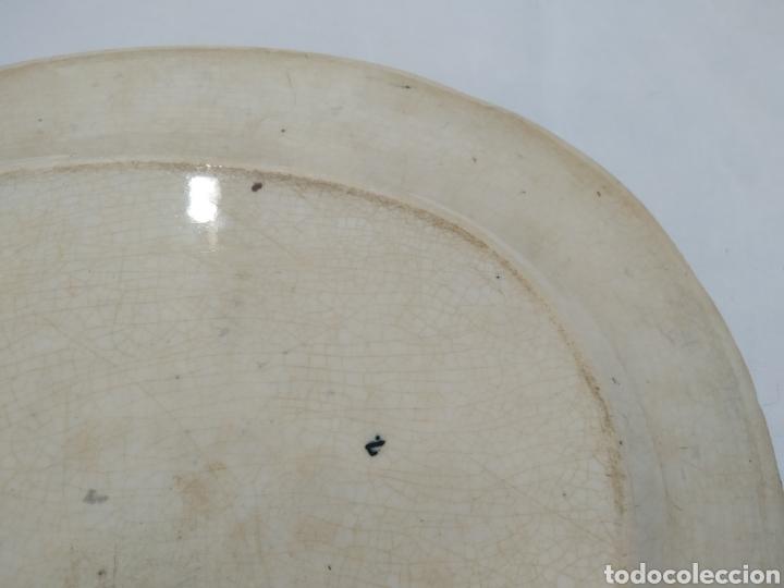 Antigüedades: Preciosa fuente PICKMAN, Cartuja de Sevilla, de 35 centímetros, vista en tinta negra, sello de 1841. - Foto 23 - 215748997