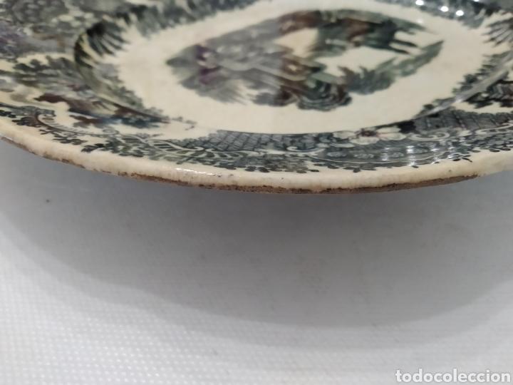 Antigüedades: Preciosa fuente PICKMAN, Cartuja de Sevilla, de 35 centímetros, vista en tinta negra, sello de 1841. - Foto 25 - 215748997