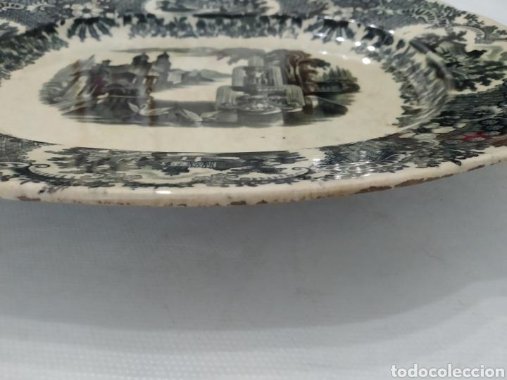 Antigüedades: Preciosa fuente PICKMAN, Cartuja de Sevilla, de 35 centímetros, vista en tinta negra, sello de 1841. - Foto 27 - 215748997