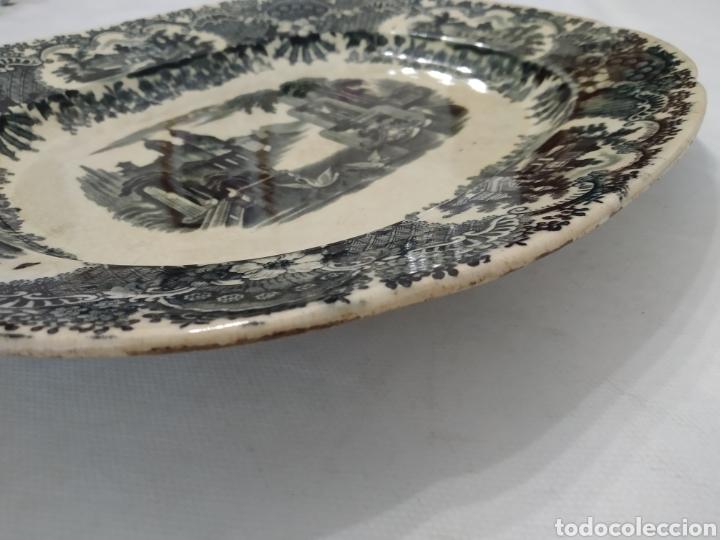 Antigüedades: Preciosa fuente PICKMAN, Cartuja de Sevilla, de 35 centímetros, vista en tinta negra, sello de 1841. - Foto 28 - 215748997