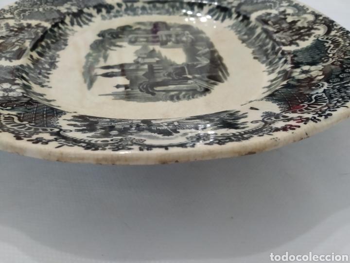 Antigüedades: Preciosa fuente PICKMAN, Cartuja de Sevilla, de 35 centímetros, vista en tinta negra, sello de 1841. - Foto 29 - 215748997