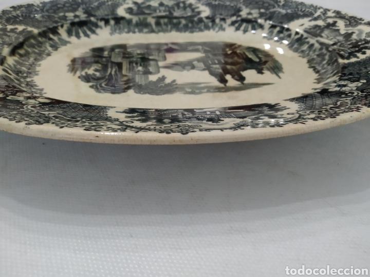 Antigüedades: Preciosa fuente PICKMAN, Cartuja de Sevilla, de 35 centímetros, vista en tinta negra, sello de 1841. - Foto 31 - 215748997