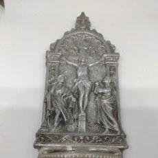 Oggetti Antichi: BENDITERA DE CRISTAL Y ALUMINIO ANTIGUA. Lote 215764527