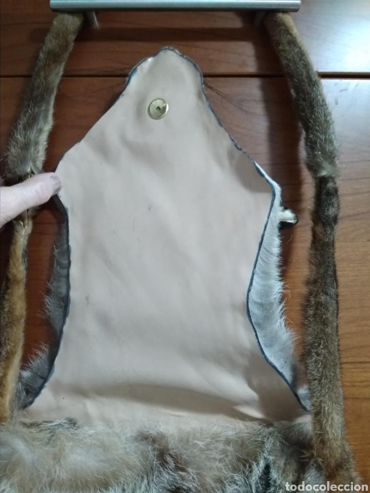 Antigüedades: Original y exclusivo Bolso hecho con piel zorro disecado.Tal cual se ve. Siglo XX. - Foto 7 - 215765977