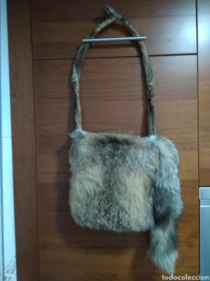 Antigüedades: Original y exclusivo Bolso hecho con piel zorro disecado.Tal cual se ve. Siglo XX. - Foto 8 - 215765977