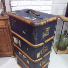 Antigüedades: ANTIGUO BAÚL DE VIAJE. Lote 215785717