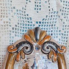Antigüedades: BENDITERA CERAMICA ESMALTADA DETRAS VELAZQUEZ 20 CM APROXIMADAMENTE. Lote 215795003