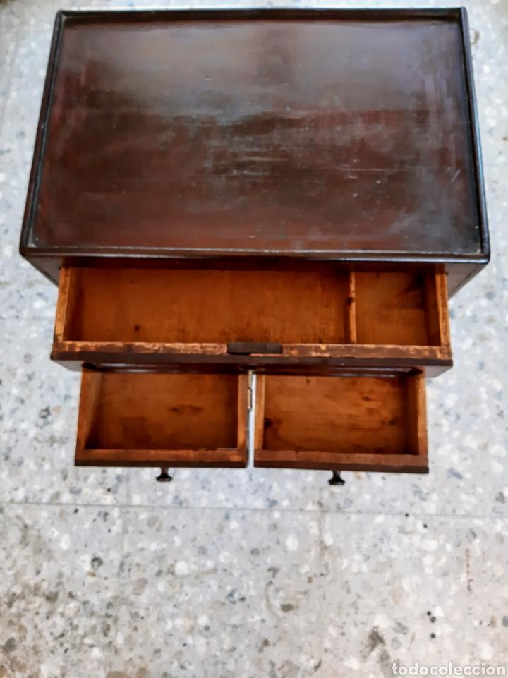 Antigüedades: Costurero estilo Isabelino. En madera de caoba - Foto 4 - 215795621