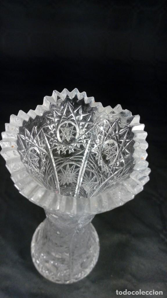 Antigüedades: JARRÓN EN CRISTAL BACCARAT TALLADO. PRINCIPIOS DEL S. XX. - Foto 4 - 215799647