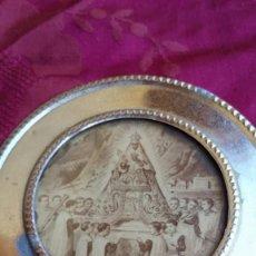 Antigüedades: PEQUEÑO CUADRO Y AGUJA VIRGEN MONTSERRAT.. Lote 215800681