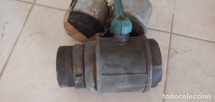 Antigüedades: Válvula de bola o llave de paso de bronce, para agua - Foto 3 - 215801116