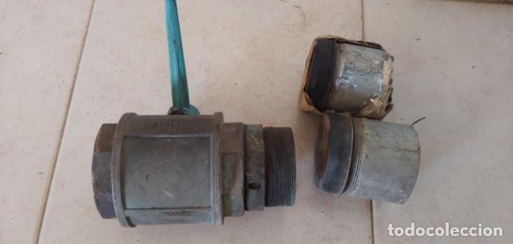 Antigüedades: Válvula de bola o llave de paso de bronce, para agua - Foto 4 - 215801116