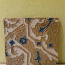 Antigüedades: ANTIGUO AZULEJO DE TRIANA ( SEVILLA) FABRICADO POR MENSAQUE. Lote 215802990