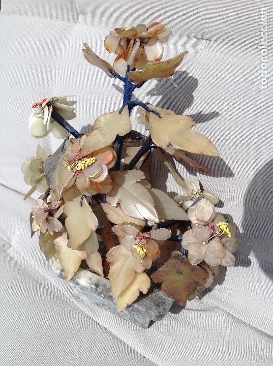 JARDINERA CHINA DE PIEDRAS DURAS (Antigüedades - Hogar y Decoración - Jardineras Antiguas)