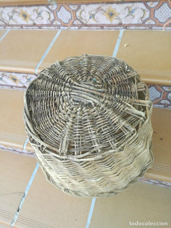 Antigüedades: Antigua canasta de mimbre - Foto 4 - 215832100