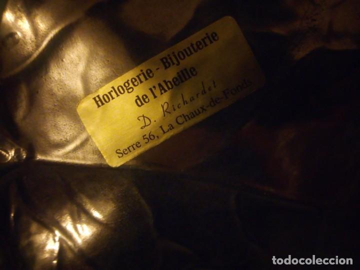 Antigüedades: Preciosa figura de flor de lote de porcelana y hoja de estaño ,exquisita pieza. - Foto 8 - 215836715