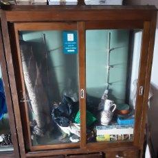 Antigüedades: MUEBLE VITRINA JOYERIA COMPLETO. Lote 215839822