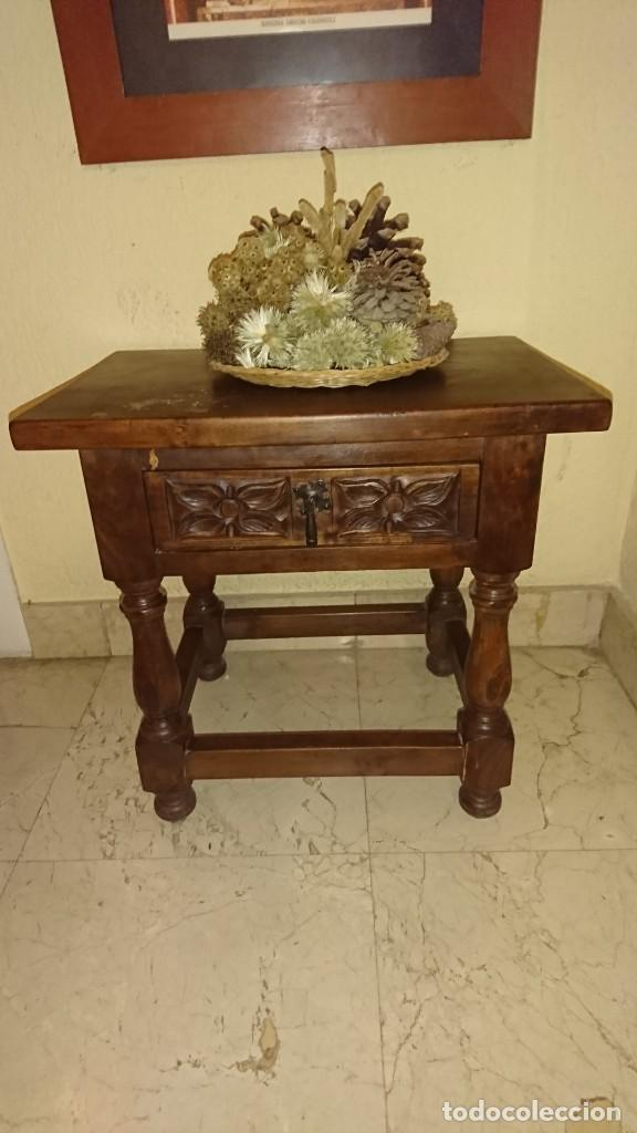Antigüedades: Antigua mesita auxiliar castellana - Foto 2 - 215876205