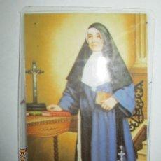 Antigüedades: RELIQUIA M. PAULA DE JESUS FRANCISCANA TELA TOCADA RESTOS DE LA M PAULA. Lote 215898002