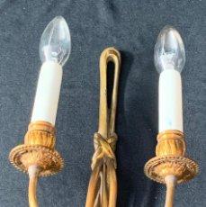 Antigüedades: LAMPARA APLIQUE PARED DE METAL. Lote 215898555