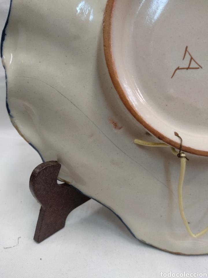 Antigüedades: Mancerina de Alcora siglo XIX serie de ramito - Foto 2 - 215967215