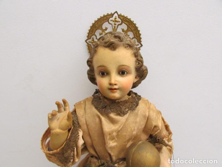 NIÑO JESUS DE PRAGA S.XIX CAP I POTA (Antigüedades - Religiosas - Ornamentos Antiguos)