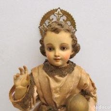 Antiguidades: NIÑO JESUS DE PRAGA S.XIX CAP I POTA. Lote 215989393