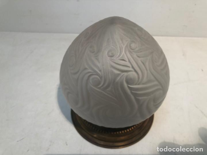 Antigüedades: LAMPARA PLAFON DE TECHO DE CRISTAL ANTIGUA. - Foto 5 - 216365760