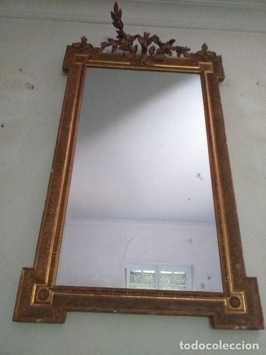 Antigüedades: Antiguo espejo. Requiere restauración. - Foto 7 - 216436168