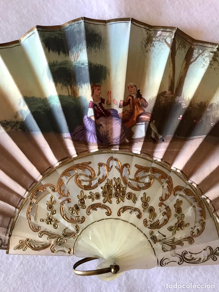 Antigüedades: ANTIGUO ABANICO DE LA EXTINTA CASA RUBIO - SEVILLA - Foto 4 - 216444783