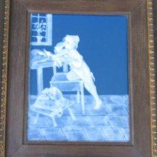 Antigüedades: GRAN PLACA DE PORCELANA DE LIMOGES FIRMADA MARCEL CHAUFRAISSE LIMOGES, ARTE. Lote 216456862
