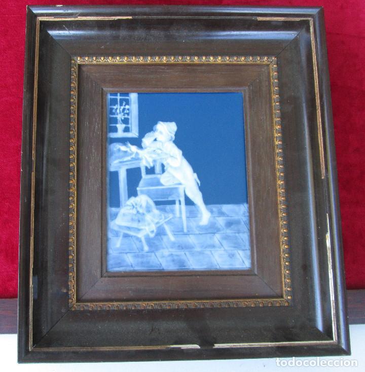 Antigüedades: GRAN PLACA DE PORCELANA DE LIMOGES FIRMADA MARCEL CHAUFRAISSE LIMOGES, ARTE - Foto 3 - 216456862