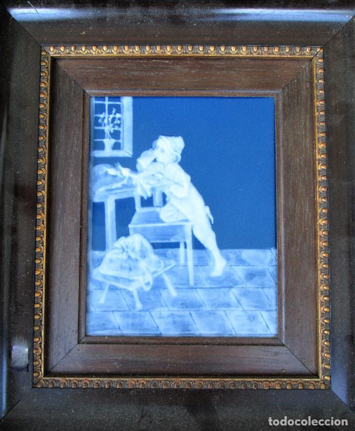 Antigüedades: GRAN PLACA DE PORCELANA DE LIMOGES FIRMADA MARCEL CHAUFRAISSE LIMOGES, ARTE - Foto 4 - 216456862