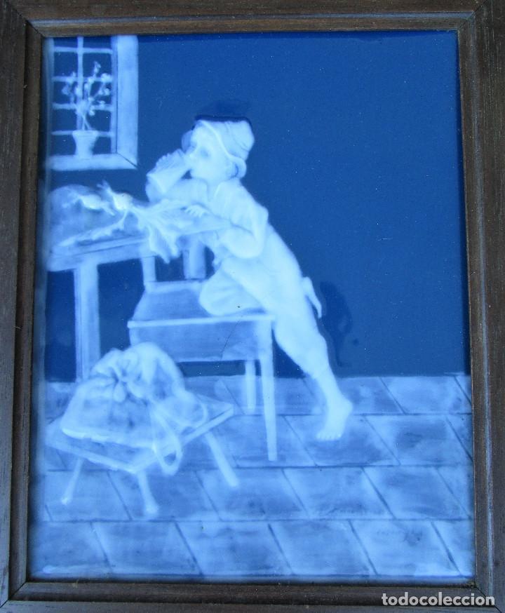 Antigüedades: GRAN PLACA DE PORCELANA DE LIMOGES FIRMADA MARCEL CHAUFRAISSE LIMOGES, ARTE - Foto 5 - 216456862