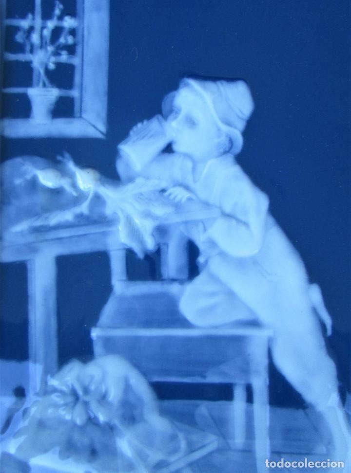 Antigüedades: GRAN PLACA DE PORCELANA DE LIMOGES FIRMADA MARCEL CHAUFRAISSE LIMOGES, ARTE - Foto 8 - 216456862