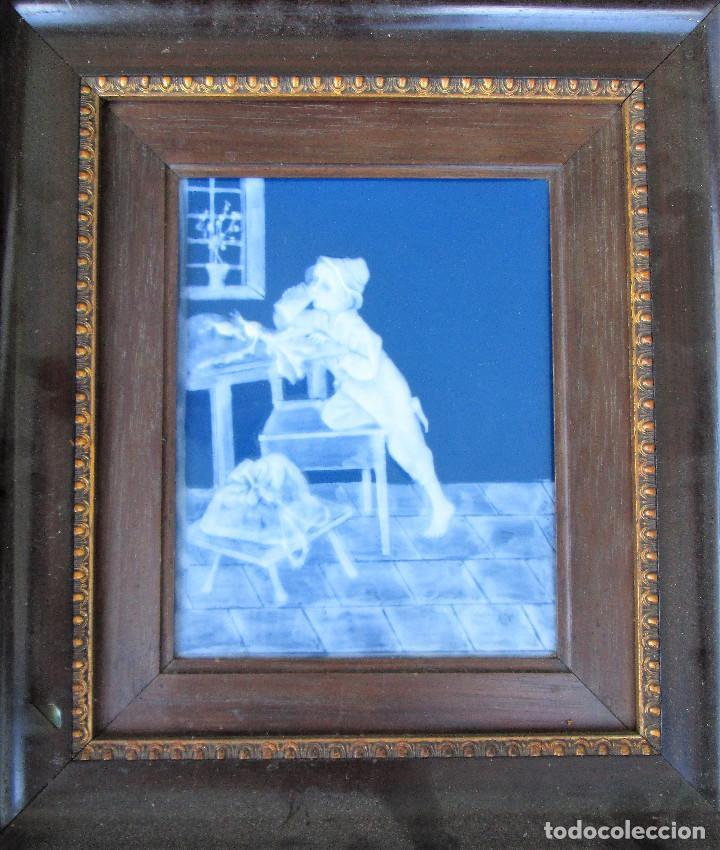 Antigüedades: GRAN PLACA DE PORCELANA DE LIMOGES FIRMADA MARCEL CHAUFRAISSE LIMOGES, ARTE - Foto 9 - 216456862