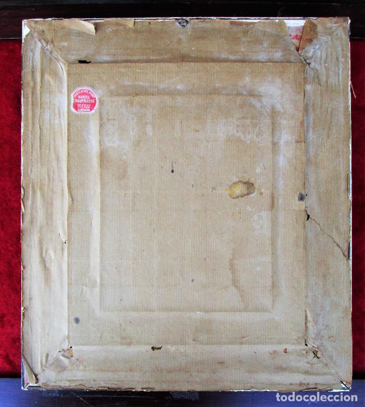 Antigüedades: GRAN PLACA DE PORCELANA DE LIMOGES FIRMADA MARCEL CHAUFRAISSE LIMOGES, ARTE - Foto 10 - 216456862