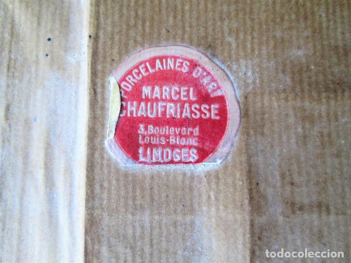 Antigüedades: GRAN PLACA DE PORCELANA DE LIMOGES FIRMADA MARCEL CHAUFRAISSE LIMOGES, ARTE - Foto 11 - 216456862
