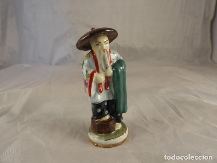 Antigüedades: ANTIGUA FIGURA DE PORCELANA CHINA - Foto 5 - 216475412