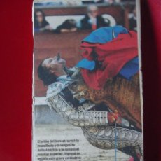 Antigüedades: CARTEL DE LA DESGARRADORA COGIDA DE JULIO APARICIO. Lote 216489733