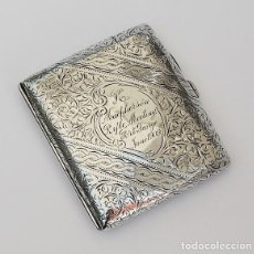 Antigüedades: ANTIGUA PITILLERA DE PLATA INGLESA DE 1908. Lote 216497316