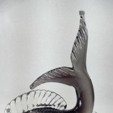 Antigüedades: ARCHIMEDE SEGUSO (1909 -1999 MURANO, VENECIA, ITALIA). FIGURA DE PEZ EN CRISTAL. AÑOS 60.. Lote 216504525